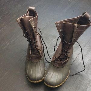LL Bean Maine Hunting Boots Brown 10""